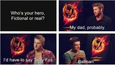 I would agree with you there Joshey mainly bc my dad and batman are practically the same thing