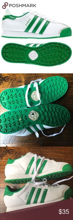 ADIDAS - Samoas Green and white Adidas Samoas. They are a 6.5 in boys which equals an 8 or 8.5 in women. Has some creasing but still has a lot of life left. adidas Shoes Sneakers