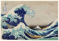 The Great Wave of Kanagawa // Katsushika Hokusai // 1832 Katsushika Hokusai was a Japanese artist, ukiyo-e painter, and printmaker from the Edo period of the and century. Hokusai is a world-renowned artist, No Wave, Great Wave Off Kanagawa, Painting Frames, Painting Prints, Art Prints, Canvas Prints, Paintings, Art Mural Japonais, Hokusai Great Wave