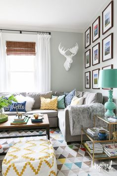 Living Room - Summer Home Tour @inspiredbycharm