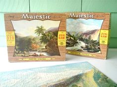 Two Vintage Jigsaw Puzzles by OldGreenCanoe on Etsy, $10.00