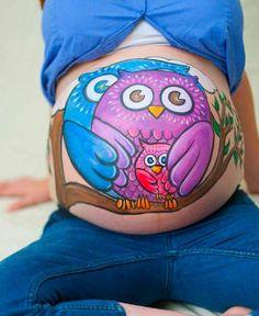 Body paint para embarazadas