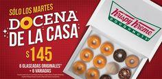 ¡Corre por tu docena de Krispy Kreme Mexico por solo $145 pesos! Solo hoy. No dejes pasar esta deliciosa oportunidad. :P~