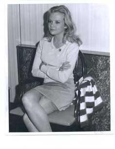 The beautiful Hayley Mills showing a little stocking top.
