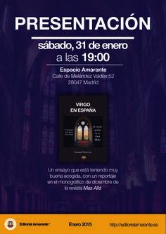 """Presentación """"Virgo en España"""", de Vanessa Redondo"""