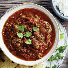 This eggplant curry is a filling vegetarian main when served with rice, naan and a dollop of yogurt. It also makes a tasty side dish when served as part of a larger Indian feast. Slow Cooker Curry, Slow Cooker Bread, Crock Pot Slow Cooker, Slow Cooker Recipes, Cooking Recipes, Crockpot Recipes, Slow Cooking, Italian Cooking, Barbecue Recipes
