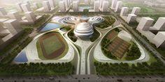 Jingzhou Sports Center, China, future architecture, futuristic building, China National Sports Group, DUO, futuristic architecture, future building   FuturisticNews.com