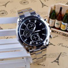 11f6355535a Dr.Root  Relógio Pulseira De Aço Inox Masculino Importado promoção Relógios  Pulseira