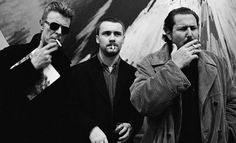 smoking is bad for you, but art is not |  David Bowie, Damien Hirst, and Julien Schnabel