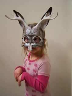 jackalope costume | And here is the other, an American Badger , worn by Leah, with her ...