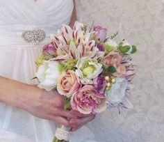 dahlia bridesmaid bouquet | Found on etsy.com