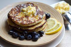 Coconut Banana Pancakes and Lemony Butter  #EatDrinkPaleo