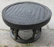 table made from tire art