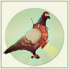 Iron Man Bird by eZeeD.deviantart.com on @DeviantArt