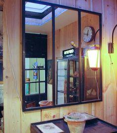 Miroir industriel par le marchand d 39 oublis miroir mon for Miroir fenetre industriel