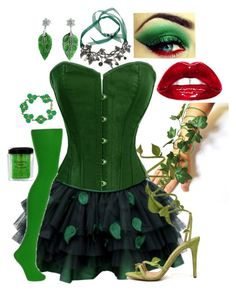 """Halloween Costume: Poison Ivy"" by secretsoftheslytherin ❤ liked on Polyvore…"