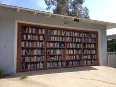 A garage door in California...