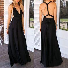convertible black dress