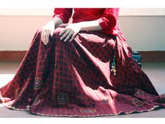 Lambani Skirt on block printed fabric