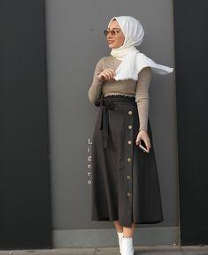 Hijab Dress Party, Hijab Style Dress, Hijab Look, Modest Fashion Hijab, Hijab Outfit, Islamic Fashion, Muslim Fashion, Fashion Wear, Skirt Fashion