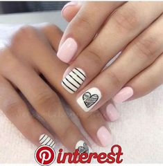 50 funky summer nail designs to impress your friends 39 Short Nails, Summer Nails, Cute Nails, Acrylic Nails, Nail Designs, Pretty, Beautiful, Beauty, Nail Fashion
