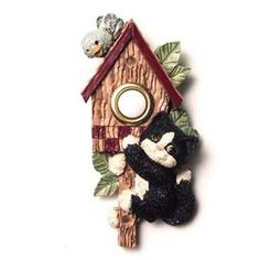 Vicki Lane Designs DB17BW Doorbell Button, Black