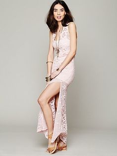 Free People On The Eve Lace Column Dress