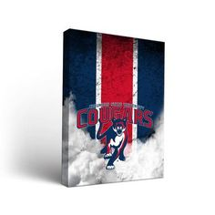 "Victory Tailgate NCAA Vintage Version Framed Graphic Art on Wrapped Canvas NCAA Team: Columbus State University Cougars, Size: 36"" H x 24"" W x 1.5"" D"