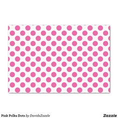 Pink Polka Dots Tissue Paper This design is available on many products! Click the 'available on' tab near the product description to see them all! Thanks for looking!  @zazzle #art #polka #dots #pattern #wrapping #paper #gift #bag #tag #birthday #holiday #color #black #white #blue #green #orange #yellow #purple #aqua #shop #buy #fun #chic #wrap #modern #classic #simple #easy #design #tag #ribbon #tissue
