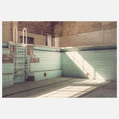 Michael Belhadi| Stadtbad Print.  Ageing unused swimming pool.