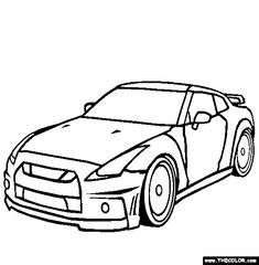 nissan gtr coloring page free nissan gtr online