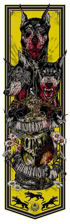 Cool Art: 'Game Of Thrones - Call Of The Banners' 'Unleash The Hounds' - House Clegane by Rhys Cooper Arte Game Of Thrones, Game Of Thrones Poster, Concours Design, Rhys Cooper, Game Of Thones, Desenho Tattoo, Geek Art, Fire And Ice, Les Oeuvres