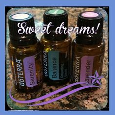 doTERRA diffuser blend for sleep. Serenity, Lavender, and Balance.