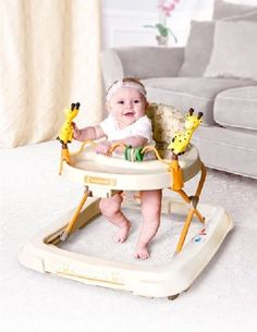 Baby Trend Activity Walker Child Walking Jumper w/Toy Rack Baby Gear Exercisers