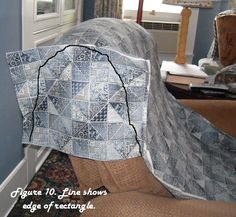 Quilted Recliner Slipcover Tutorial