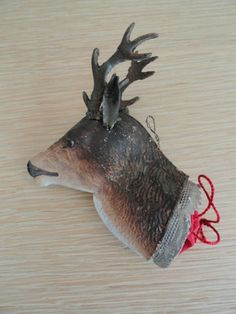 Antique German Dresden Christmas Ornament Deer Head Candy Container | eBay