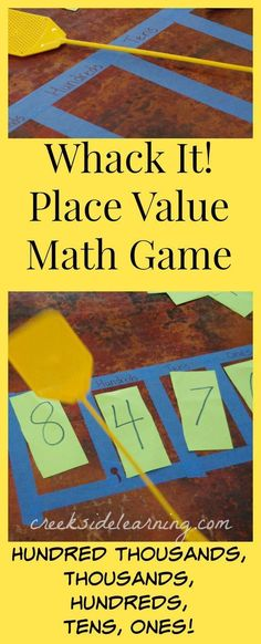 How to teach Place Value in Math with this easy game. More math with movement activities for kindergarten, 1st grade, 2nd grade, 3rd grade, 4th grade, 5th grade and beyond. #mathgamesforkids