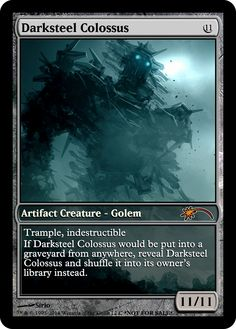 get it from $0.37 on http://www.hecose.com check photos · Mtg Altered ArtDarksteel  ColossusMagic ...
