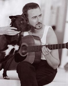 Edward Norton..... Yeah;) American history X ~ have to watch~ an amazing movie~ makes you think about it for long time