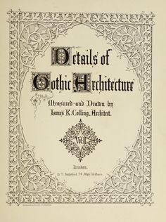 Details of Gothic architecture