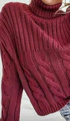 Cable Sweater, Sweater Cardigan, Men Sweater, Sweaters For Women, I Love Fashion, Pulls, Baby Knitting, Knitwear, Knitting Patterns