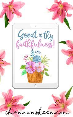 """Great is Thy Faithfulness"" 8x10 printable"