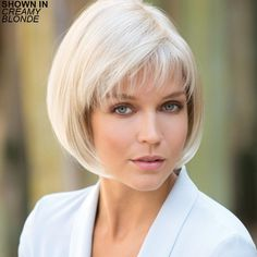 Shop our online store for a selection of bob-cut hair wigs for women. These natural hair and synthetic wigs fit petite, average and large head sizes. Long Bob Hairstyles, Trending Hairstyles, Afro Hairstyles, Pretty Hairstyles, Short Hair Cuts, Short Hair Styles, Short Wigs, Hair Dos, Fine Hair
