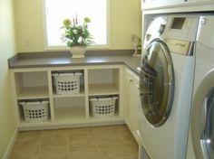 DIY Laundry Room Cabinets via @Rachael Herrscher
