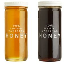 Bee Raw Honey by Colossal Honey Packaging, Brand Packaging, Packaging Design, Real Honey, My Honey, Honey Food, Pure Honey, Honey Bees, Unfiltered Honey