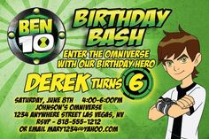 Nice FREE Template 10 Year Old Birthday Invitations