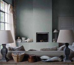 Un+salon+gris+cosy