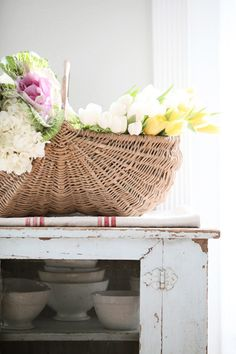 Living Room, Gordon Hill Flower Shop, Ornamental Kale, and a French Apple Basket