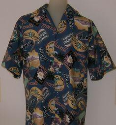Vintage Hilo Hattie Hawaiian Shirt 1980s Aloha Hula Bell Records Hawaii Size S #HiloHattie #Hawaiian