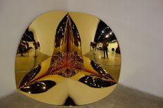 "©AmbraPatarini https://flic.kr/p/RLp4Eu   Anish Kapoor   ""Corner disappearing into itself"" 2015, Fibreglass and gold  anishkapoor.com/4244/museo-darte-contemporanea-roma  www.museomacro.org/mostre_ed_eventi/mostre/anish_kapoor"